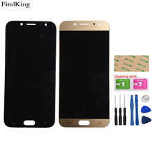 TFT Incell LCD Display For Samsung Galaxy J7 Pro 2017 J730 J730F J730FM Touch Screen Digitizer LCD Display Assembly Adjust Tools
