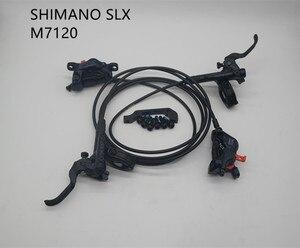 Image 1 - SHIMANO SLX M7120 hydraulic  disc brake lever and 4 piston caliper set BR M7120 + BL M7100 for MTB bike bicycle oil brake