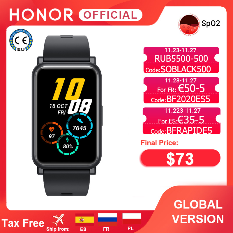 Global Version Honor Watch ES Smart Watch SpO2 Smartwatch Heart Rate Monitoring 5ATM 1.64 ''AMOLED Fashion and Sports for Women|Smart Watches| - AliExpress