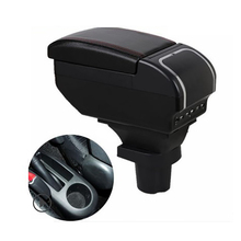 Armrest-Box Central-Storage-Box Toyota Yaris Vitz Car for Usb-Interface Microfiber Special