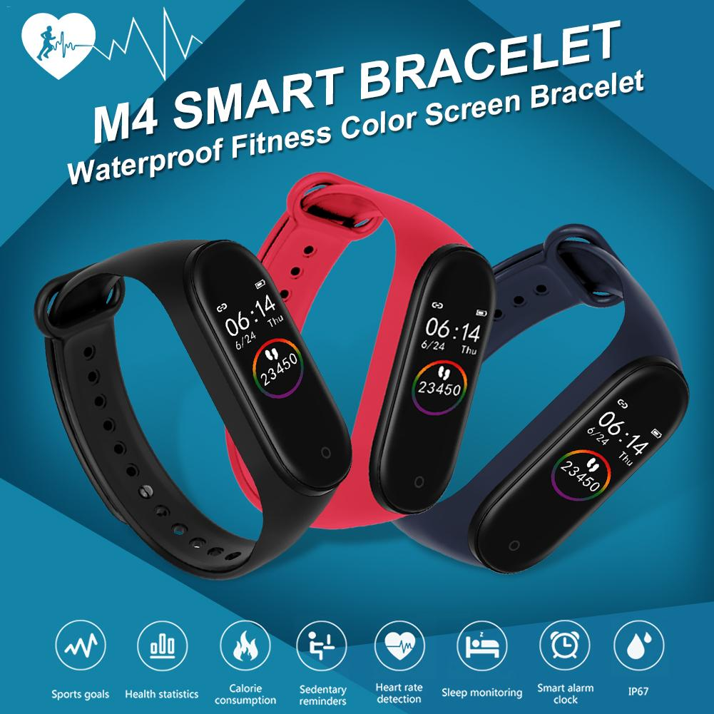 M4 Smart Bracelet Bluetooth Sport Watch Smart Band Color Screen Waterproof Heart Rate Fitness For Android IOS