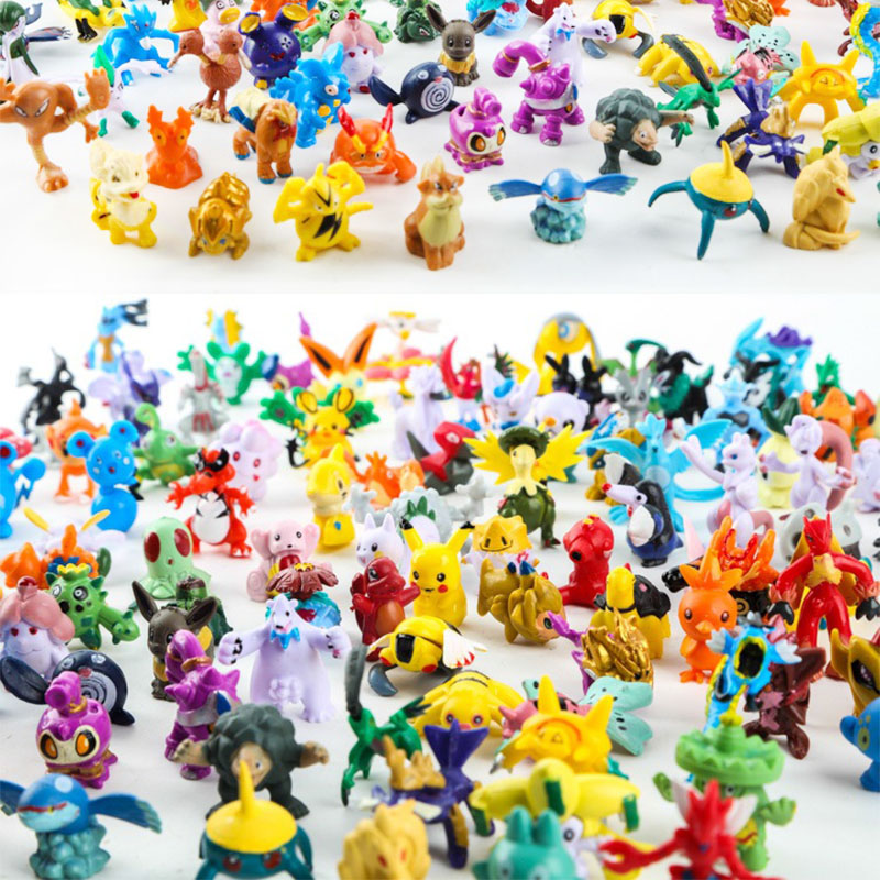 24pcs Mini Action Figure Doll Charmander Charizard Squirtle Jigglypuff Gengar Pvc Plastic Does Not Repeat Mini Toy action figure pokemon