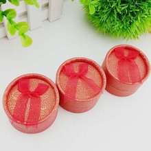 1PC  Ring Earrings Box Bow Small Round Box Creative Classic Jewelry Gift Box Display Storage Box Wedding Packaging