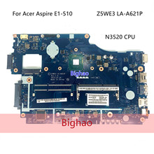For Acer aspire E1-510 E1-510-2500 Laptop Motherboard Z5WE3 LA-A621P N3520 CPU DDR3 FULLY tested ok