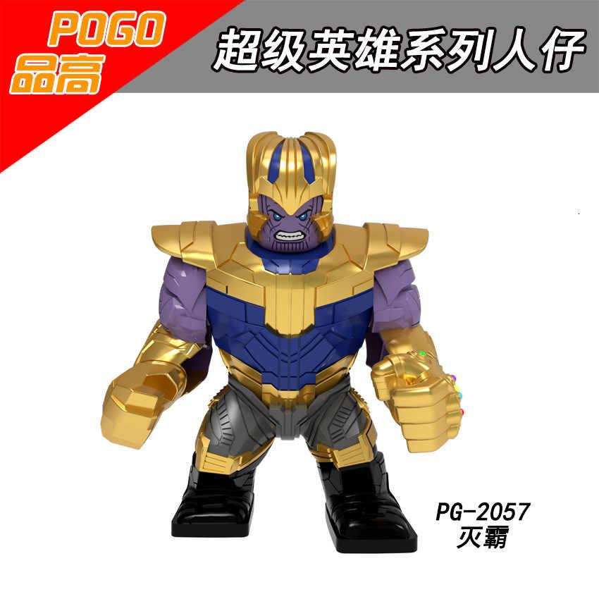 Ukuran Besar Iron Man Racun Kapten Single Legoings Avengers Super Hero Angka Blok Bangunan Batu Bata Set Model Mainan untuk Anak