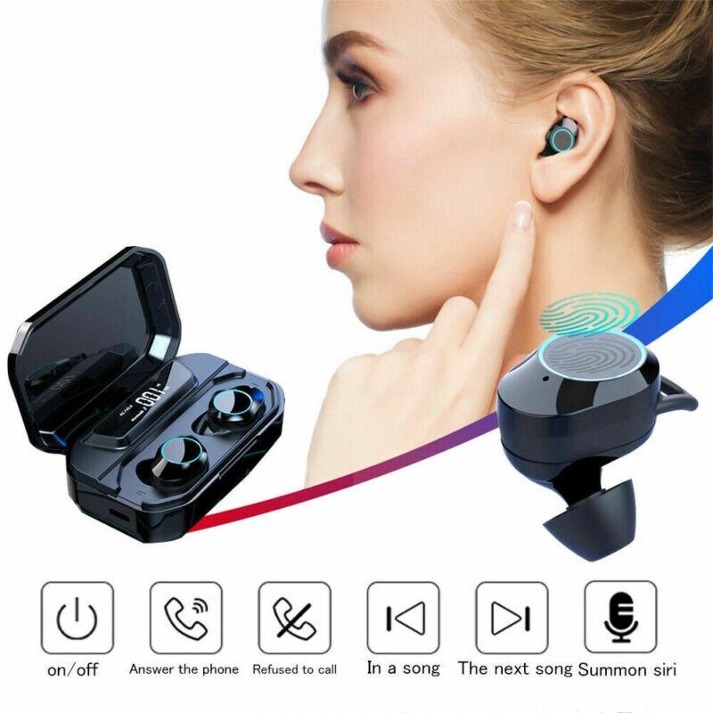 Bluetooth 5 0 Headset TWS Wireless Earphones Mini Earbuds Stereo Headphones IPX7