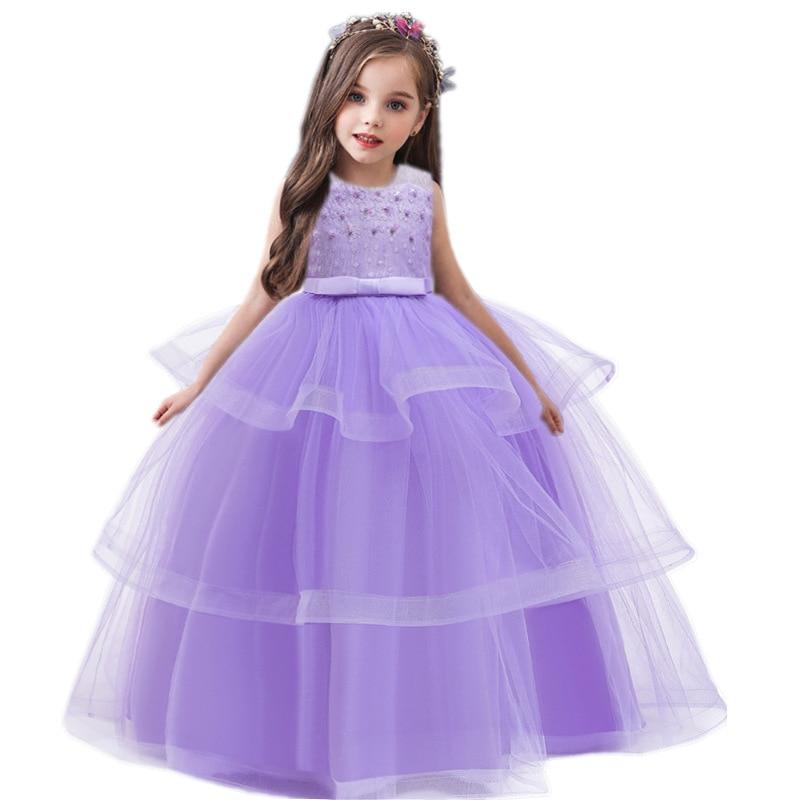 Royal Blue petites filles robes Princess Lace Flower Girl Dresses 2019 Tulle Girls Peagant Dresses First Communion Dresses