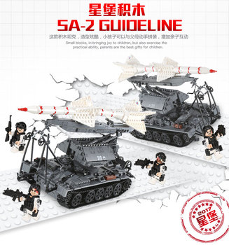 легоe Military MOC Series SA-2 GUIDELINE Missile Vehicle Tank Model 1623Pcs XINGBAO Building Blocks 06003 Children Toys
