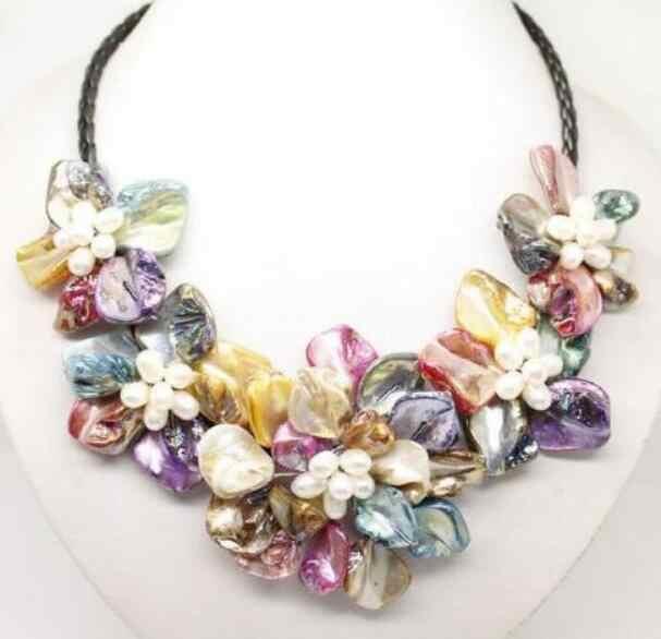 Schmuck Perle Halskette edle schmuck Charmming! 8-9mm Süßwasser Weiße Kultivierte Perle Halskette DIY frauen heißer verkauf j Kostenloser Versand