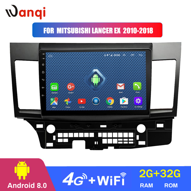 4G 3G WIFI All Netcom 10.1 inch 2+32G Android 8.0 car dvd gps navigation for mitsubishi lancer 2010-2018 multimedia radio system image