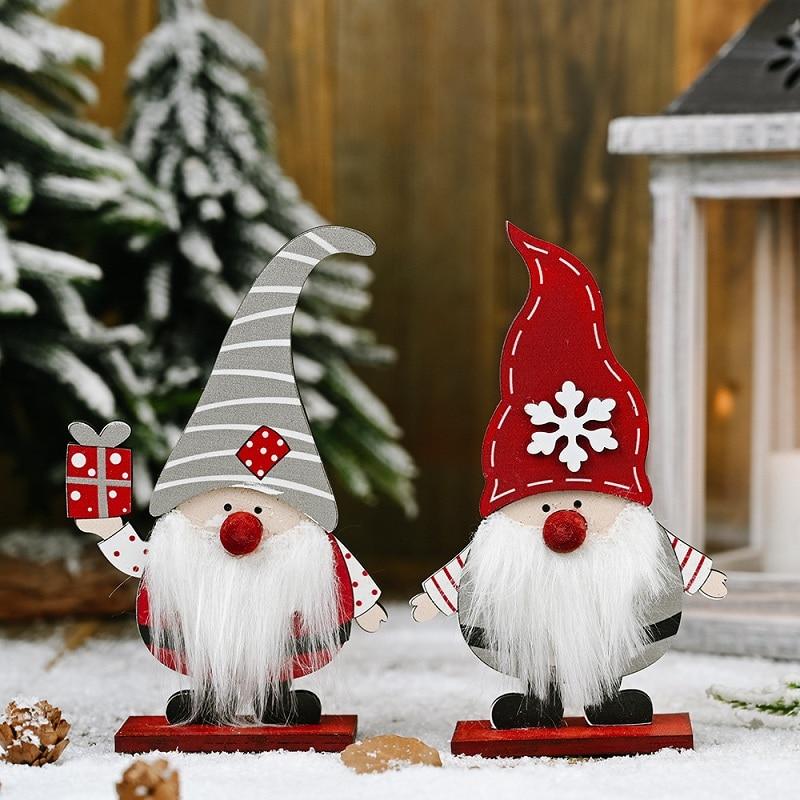 Рождественские деревянные украшения, рождественские украшения для дома, рождественские украшения для дерева 2020, рождественские подарки ...