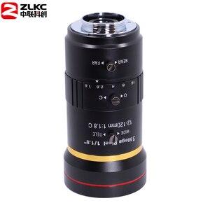 Image 3 - 3.0 megapixel 12 120mm hd cctv lente manual iris varifocal c montagem lente para câmeras ip lente baixa distorção fa