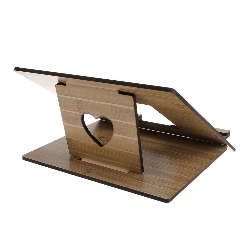 Laptop Stand Detachable Notebook Desktop Holder Adjustable Wooden Bracket Portable for font b Apple b font