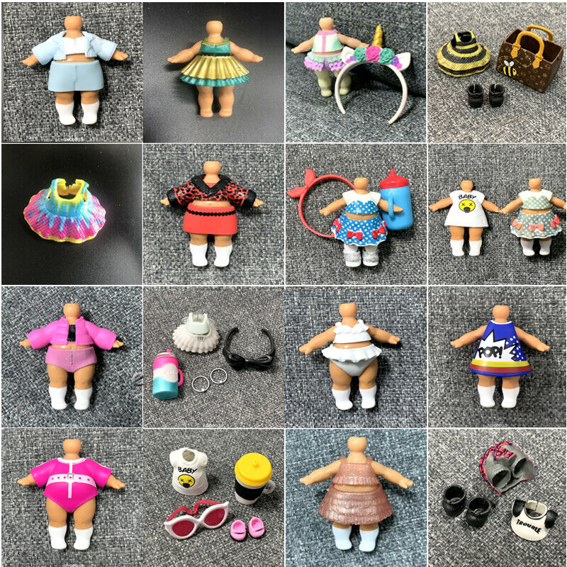 New Original LOL Girls Doll Outfit Dresses Shoes Bag Bottle Accessorries Original LOL Accessorries For LOL Doll Toy