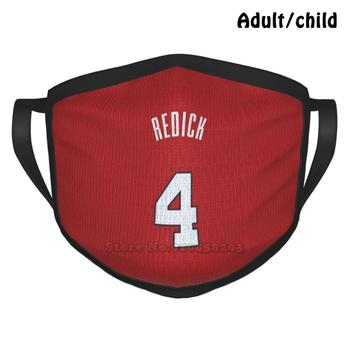 Sports Art-Jj Reddick Jersey Pelicans Red Number Pm2.5 Anti Dust DIY Reusable Face Mask Jj Jayjay Reddick Redick Redic 4 Zion image