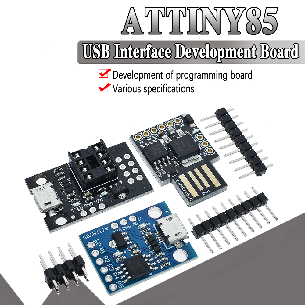 official Blue Black TINY85 Digispark Kickstarter Micro Development Board ATTINY85 module for Arduino IIC I2C USB(China)