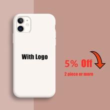 Оригинал с логотипом силиконовый чехол на айфон 12 мини 11 Pro Xs Max айфон SE 2020 6 6S 7 8 плюс официальный жидкий кремний 360 Полный Крышка