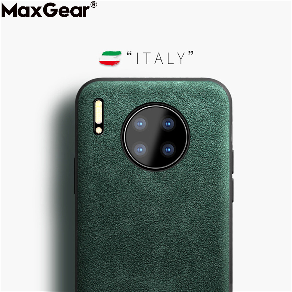 Leather Suede Silicone Case For Huawei Honor 8X 20 10 Lite Mate 30 9 P30 P20 P40 Pro 30S P Smart 2019 S Luxury Shockproof Cover(China)