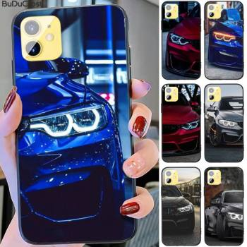Kenzoe Blue Red Car for Bmw Phone Case For iphone 11 12 Mini Pro Max X XS MAX 6 6s 7 8 Plus 5 5S 5SE XR SE2020 image
