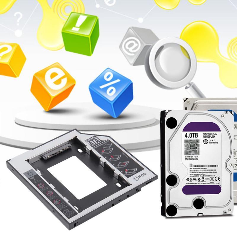For HDD SATAII 3.0 Interface  9.5mm Hard Drive Bracket SSD Adapter Optibay DVD CD-ROM Enclosure Adapter Case TSLM1 TXTB1