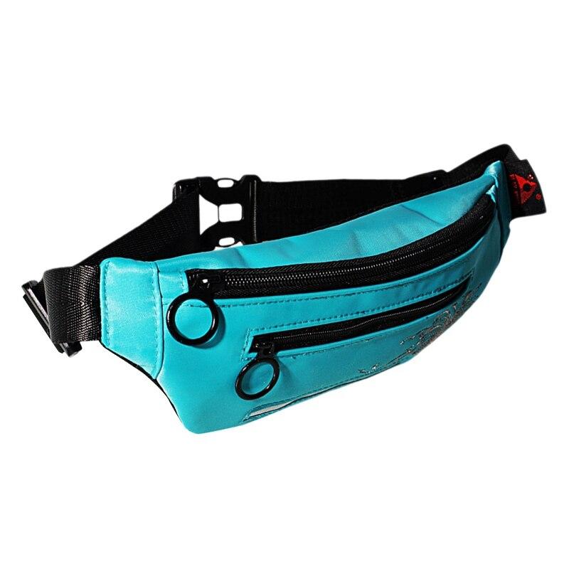 New Unisex Waist Bag Outdoor Fashion Sports And Leisure Fanny Pack Led Flash Pockets Hiking Phone Belt Bag