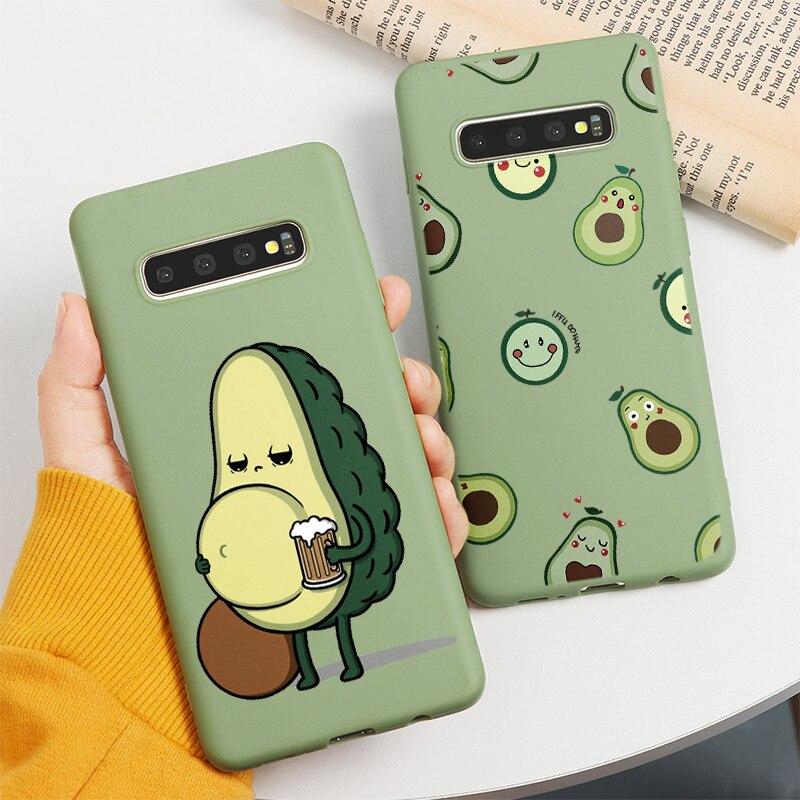 Cute Avocado Case For Samsung Galaxy A51 A71 A10 A20 A30 A40 A50 A60 A70 S8 S9 S10 S20 Plus Ultra M30S A20E A50S A30S TPU Funda