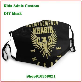 Hot sale Khabib Nurmagomedov The Eagle Gold DIY mondmasker wasbaar mouth mask reusable mask cloth face masks