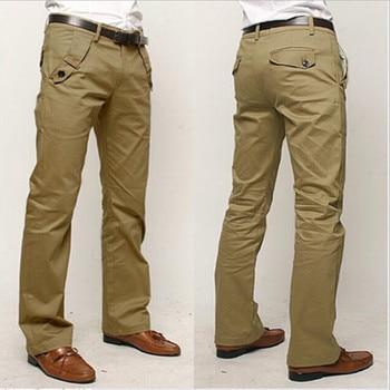 Casual Pants Men 2019 Fashion Men Slacks Cotton Straight Business Long Men 's Chinos Trousers Casual Pants Pantalon Homme