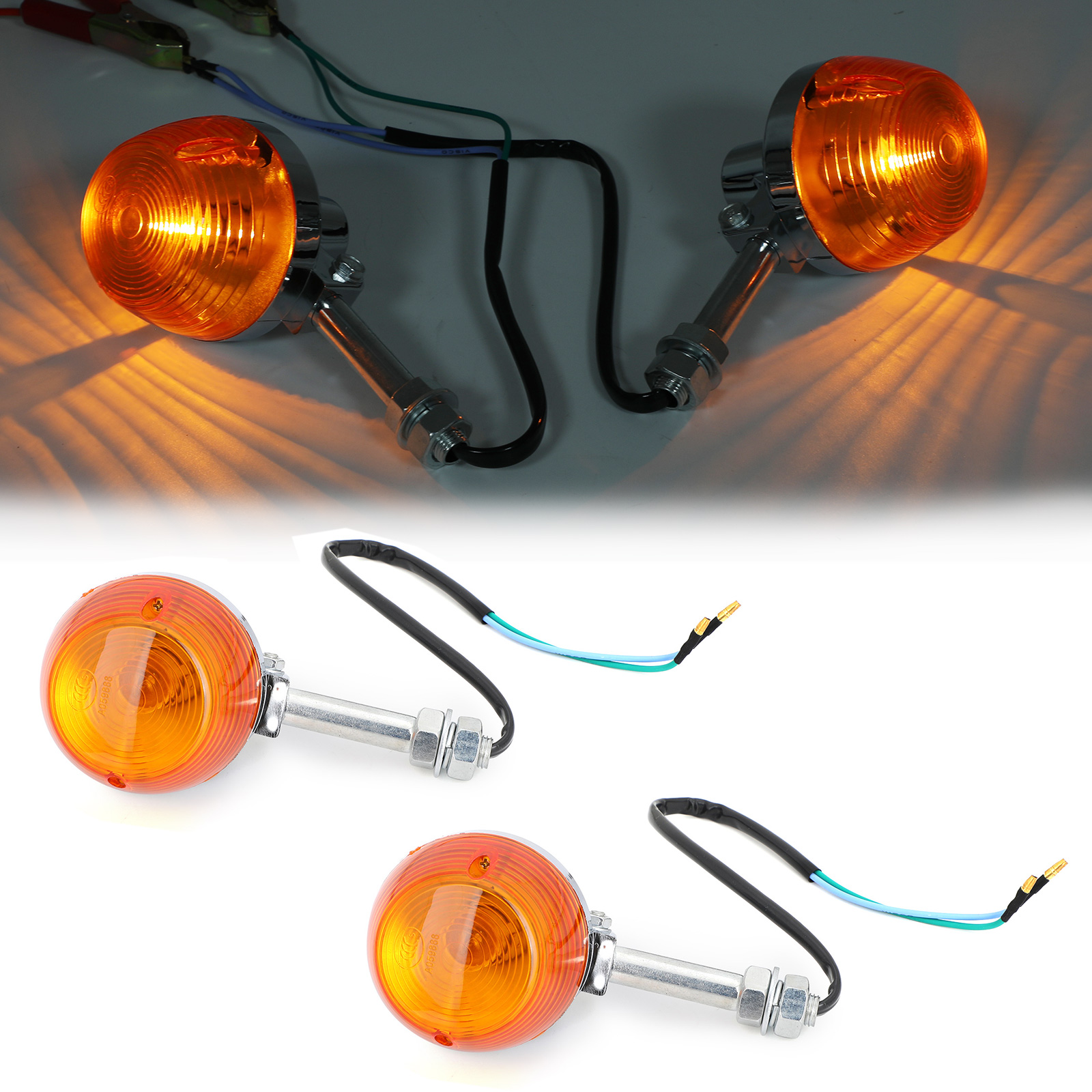 8mm Motorcycle Turn Signal Light For Honda C70 CT70 CT90 XL100 CB350 Hot Sale