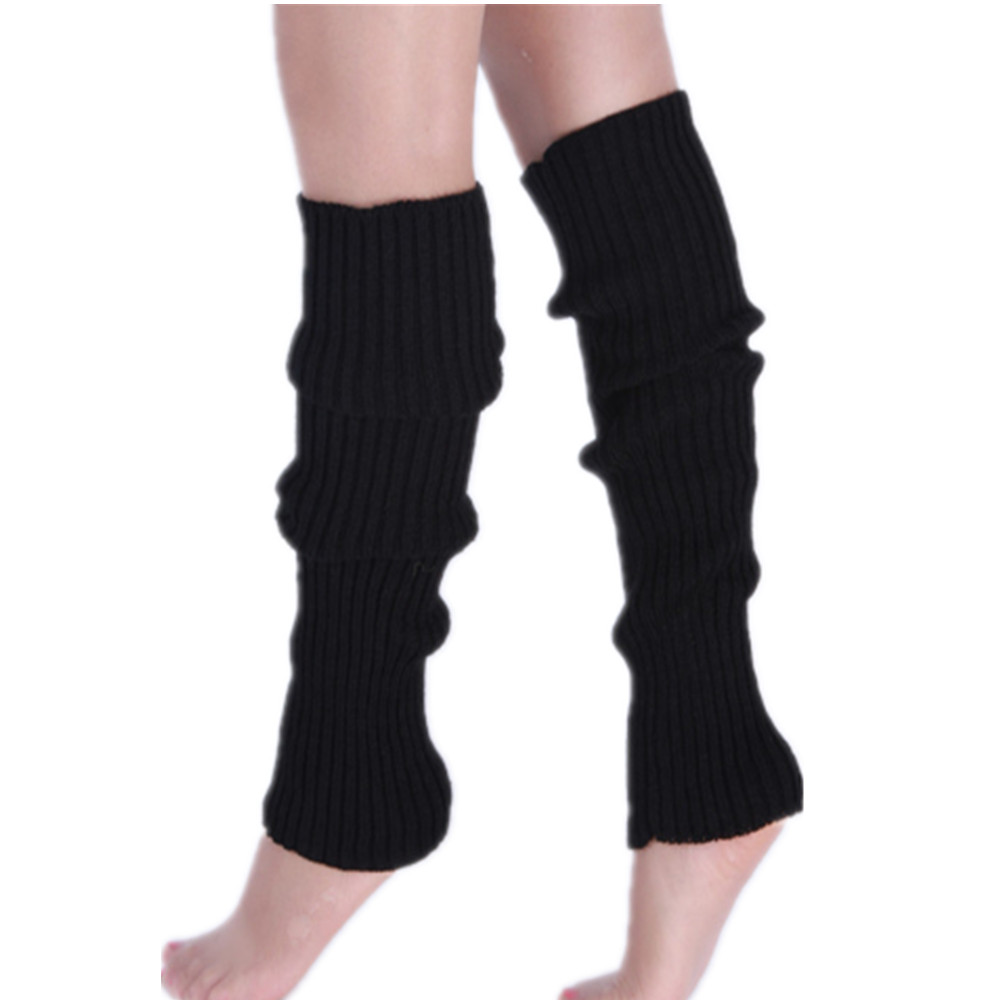 Ladies Winter Knitted Leg Warmers Boot Cuffs Trim Toppers Candy colors Leg Warmers ST004