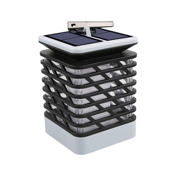 hot solar powered power led square white light for fence post pool garden yard pathway outdoor christmas decor Solar Lights Flicking Flame Outdoor Solar Lantern Lamp Light Solar Powered LED Waterproof Hanging Light for Garden Yard Pathway