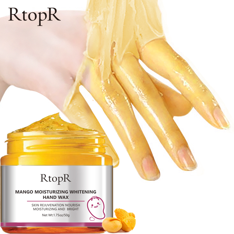 RTOPR Mango Moisturizing Hand Wax Whitening Skin Hand Mask Repair Exfoliating Calluses Film Anti-Aging Hand Skin Cream