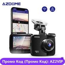 AZDOME Cámara de salpicadero g63h con pantalla LCD 4K de 2,4 pulgadas cámara de salpicadero con GPS integrada, velocidad coordinada, WiFi, DVR, 2160p, grabadora de vídeo de doble lente