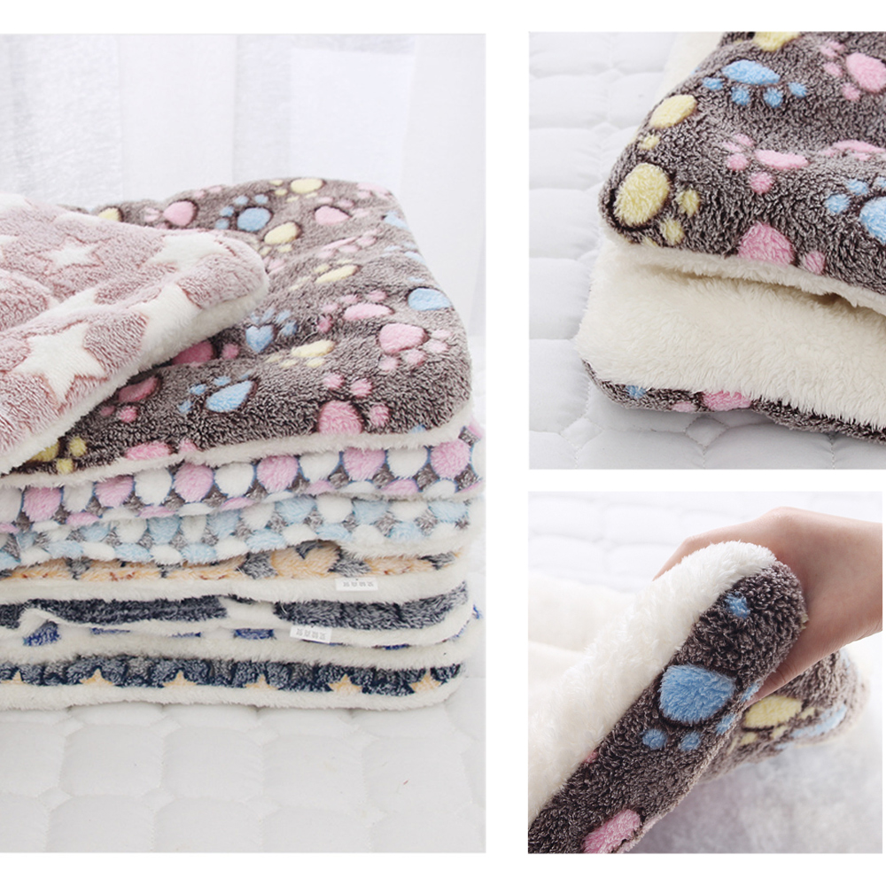 New Soft Cat Bed Rest Dog Blanket Winter Foldable Pet Cushion Hondenmand Coral Cashmere Soft Warm Sleep Mat Sweet Dream Bed