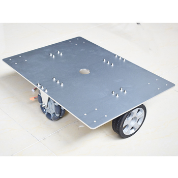 50KG Big Load Omni Wheel Robot Car Chassis Kit with 2pcs DC Motor with Encoder 4 Wheel Omni Directional Tires