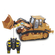Oversized Simulation Bulldozer Remote Control Engineering Vehicle Children's Toy Gift Model Bulldozer Truck Toys for Children alloy engineering caterpillar tractor with compartment vehicle simulation model of agricultural toys children s birthday gift