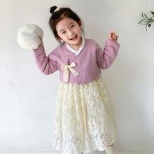 2021 сезон весна новые платья для девочек стеганый костюм ханьфу