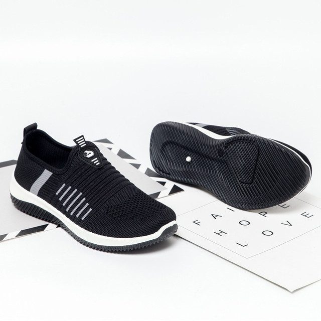 JAYCOSIN Spring Sock Sneakers Women Breathable Mesh Running Shoes Women Slip On Red Socks Sports Shoes Flats Footwear Cheap 41 3