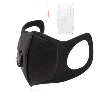 PM2.5 Black mouth Masks anti dust masks Activated carbon filter Mouth-muffle bacteria proof Flu Face masks with Filter