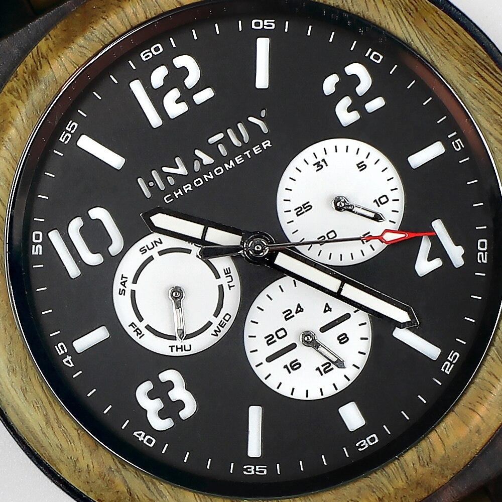 Hc743625894b2405d83688c62625c351bV Hnatuy Wood Men's Watches Luminous Hands Business Watch