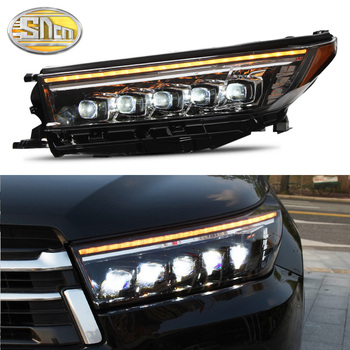 Car accessories for Toyota highlander headlights 2018 2019 new Luger / highlander all LED headlights Drl signal