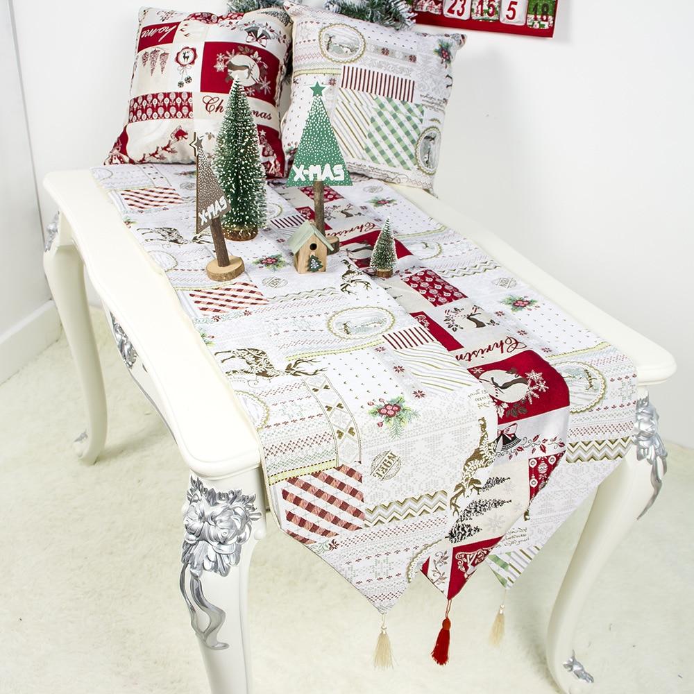 Рождественская салфетка под приборы настольный флаг украшение скатерти для дома с Сантой детский орнамент Navidad 2020 подарок на Новый год