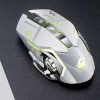 Gaming Mouse Rechargeable X8 Wireless Silent LED Backlit USB Ergonomic Mouse W91A