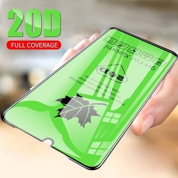 Перейти на Алиэкспресс и купить Новая мода 20D Защитное стекло для Vivo V11i Y91C X21 X23 S1 X27 Y5 Y17 Y11 Y12 Pro протектор Закаленное стекло для экрана полное покрытие