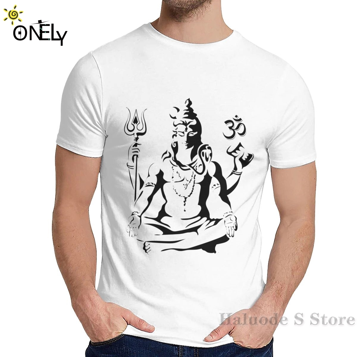100 Cotton Men T Shirt Women T Shirt Harajuku Lord Shiva Sketch