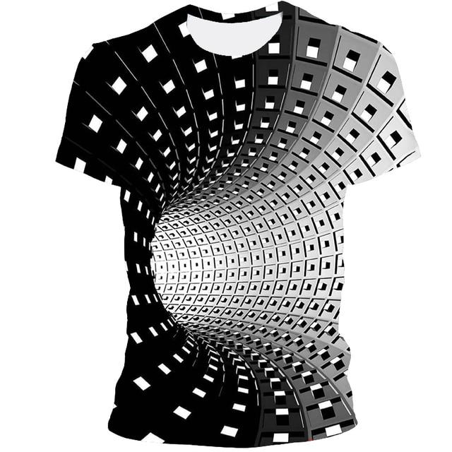 Мужская футболка 3D принтом чёрная дыра 1