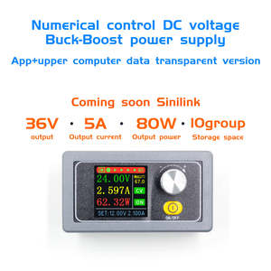 DC DC Buck Boost Converter CC CV 0.6-36V 5A Power Module Adjustable Regulated laboratory power supply variable