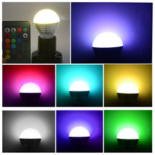 E27 E14 LED Wireless Bluetooth Bulb Light Speaker RGB Play Lamp + Remote KP9 LED RGB Bulb lamp AC110V 220V 5W LED RGB Spotlight(China)