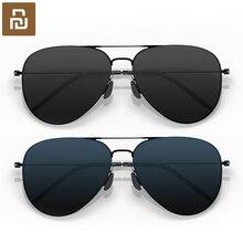 Youpin gafas de sol de acero inoxidable polarizadas para hombre y mujer, lentes de sol 100%, a prueba de UV, para viajes al aire libre