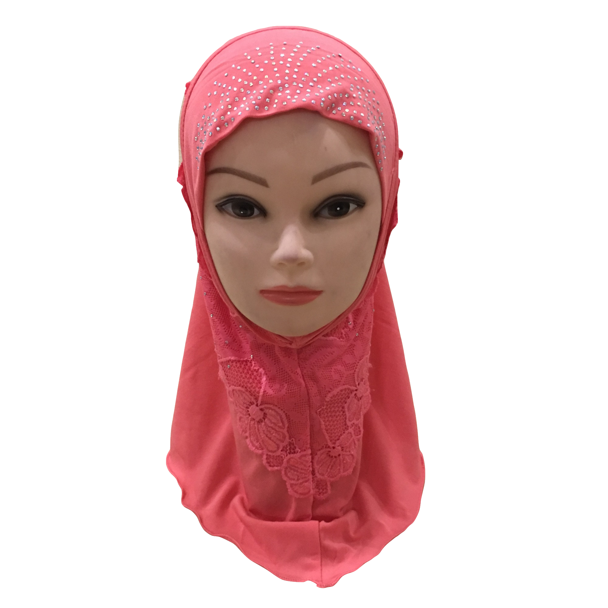 Image 5 - Muslim Girls Hijab Kids Hijab Islamic Fashion Scarf Shawls with  Beautiful Lace Diamond WholesaleIslamic Clothing